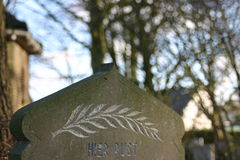 Headstone. Tombstone on graveyard Royalty Free Stock Photography