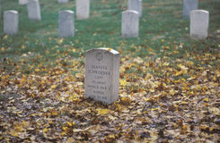 Headstone at Arlington National Cemetery Royalty Free Stock Photo