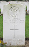 Headstone British soldier of Royal Scots Fusiliers Stock Photography
