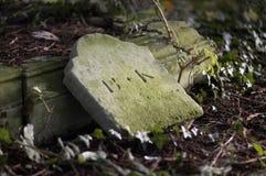 Headstone caído Imagens de Stock Royalty Free