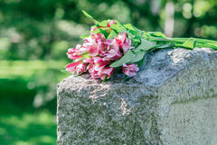 Headstone in Cemetery Royalty Free Stock Photos