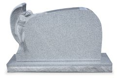 Headstone di angelo con il percorso della clip Fotografia Stock
