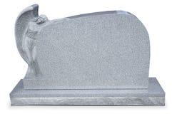 Headstone do anjo com trajeto do grampo fotografia de stock