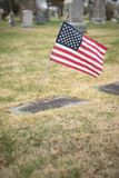 Headstone with Flag Royalty Free Stock Images