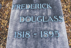 Headstone at the grave of Frederick Douglas, Rochester, New York Stock Photography