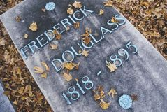 Headstone at the grave of Frederick Douglas, Rochester, New York Stock Photo