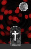 Headstone in graveyard for halloween Stock Photography