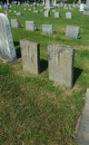 Headstones. In an old graveyard stock photography