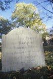 Headstone at historic Stock Photo