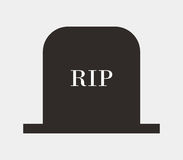 Headstone icon illustrated. On a white background Stock Images