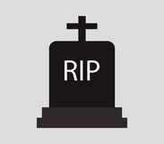 Headstone icon illustrated. On a white background Royalty Free Stock Photography