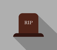 Headstone icon illustrated. On a white background Stock Photos