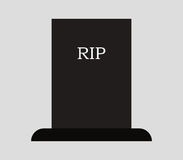 Headstone icon illustrated. On a white background Royalty Free Stock Photos