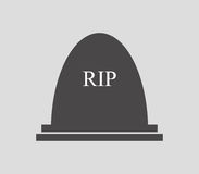 Headstone icon illustrated. On a white background Royalty Free Stock Image