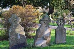 Headstone trio royalty free stock image
