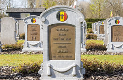 A Headstone of unknown belgian soldier world war one Royalty Free Stock Photos