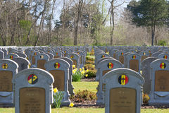 A Headstone of unknown belgian soldier world war one Stock Images