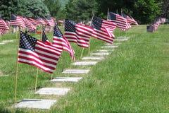 headstones кладбища сняли вертикальных ветеранов Стоковые Фотографии RF