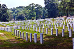 Headstones at the Arlington national Cemetery. Gravestones at Arlington National Cemetery Stock Photography