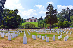 Headstones at the Arlington national Cemetery. Gravestones at Arlington National Cemetery Royalty Free Stock Image