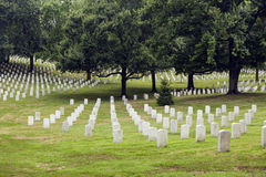 Headstones at the Arlington Stock Photos