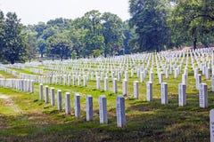 Headstones at the Arlington Royalty Free Stock Photo