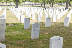 Headstones at the Arlington Royalty Free Stock Photo