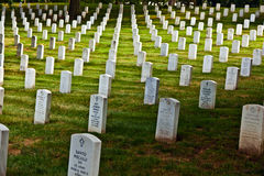 Headstones at the Arlington Stock Photo