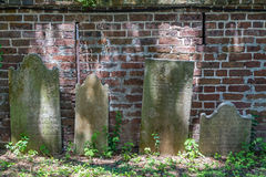 Headstones. In a church graveyard in Charleston, South Carolina stock images