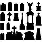 Headstones e lápides no vetor Fotos de Stock