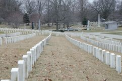 Headstones in graveyard Stock Photography
