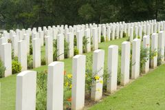 Free Headstones In A War Cemetery Royalty Free Stock Photos - 1916288