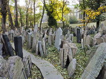 Headstones in the Jewish cemetery stock image