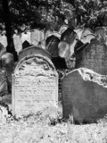 Headstones in the Jewish cemetery Royalty Free Stock Image