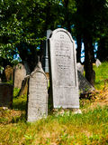 Headstones in the Jewish cemetery Royalty Free Stock Photos