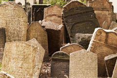 Headstones in Jewish Graveyard Royalty Free Stock Photos