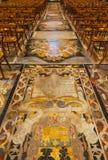 Headstones marble slabs and floor Stock Image