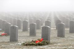 Headstones in a military cemetery Stock Images