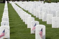 Headstones, National Cemetary Royalty Free Stock Photography