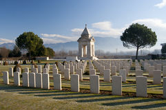 Headstones nel cimitero di guerra Fotografia Stock