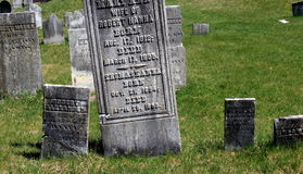 Headstones of soldiers in Revolutionary Cemetery, Salem,New York,2016 Royalty Free Stock Photos