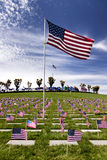Headstones at United States National Cemetery Stock Photo