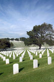 Headstones at United States National Cemetery Royalty Free Stock Images