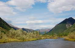 Headwaters of the mountain river. Royalty Free Stock Photography
