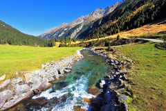 Headwaters of waterfalls Royalty Free Stock Photos