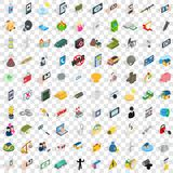 100 headway icons set, isometric 3d style Royalty Free Stock Photography
