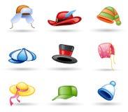 Headwear : capuchon, chapeau Image libre de droits