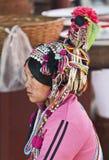 Headwear ornamentado de povos de Hani Fotografia de Stock Royalty Free