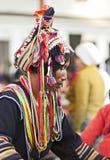 headwear utsmyckat folk för hani arkivfoto