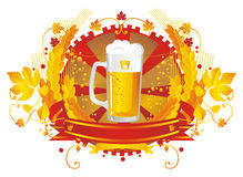 HeadyBeerVignette Royalty Free Stock Images